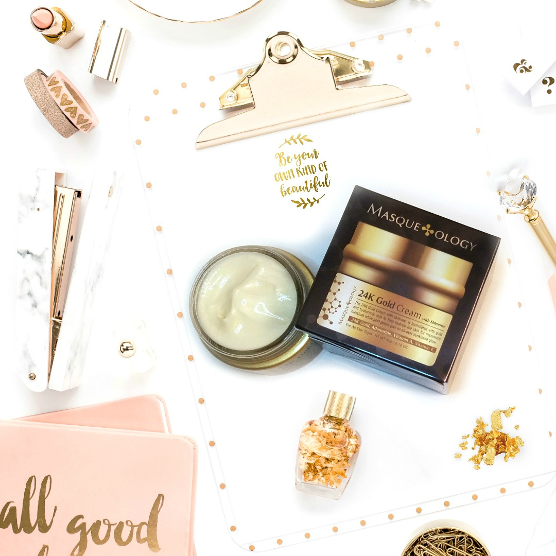 Maximize Your Collagen Levels Using Masqueology 24K Gold Cream With Shimmer By Beauty After Forty