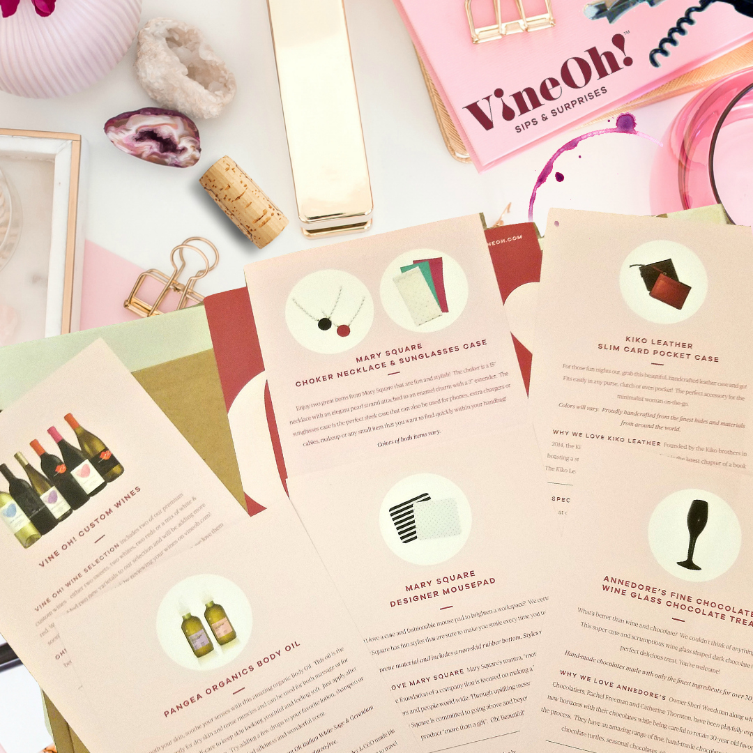 Vine Oh Wine Box subscription from Beauty After Forty