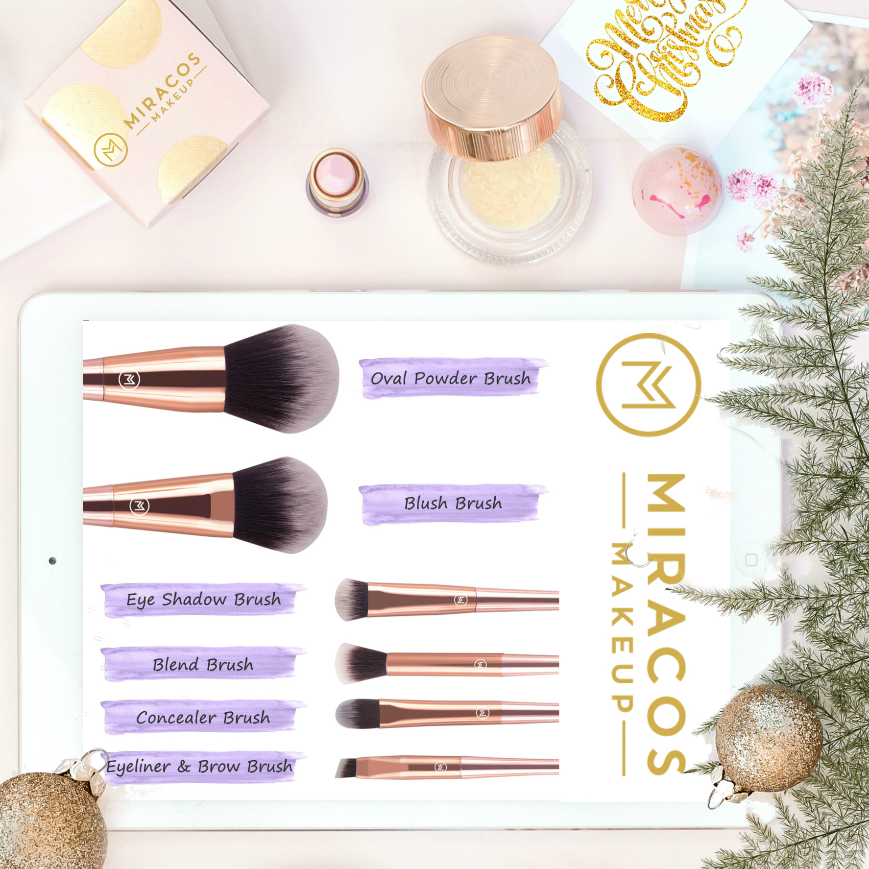 Miracos makeup STILETTOS LIMITED EDITION brushes for the holidays By Beauty after forty