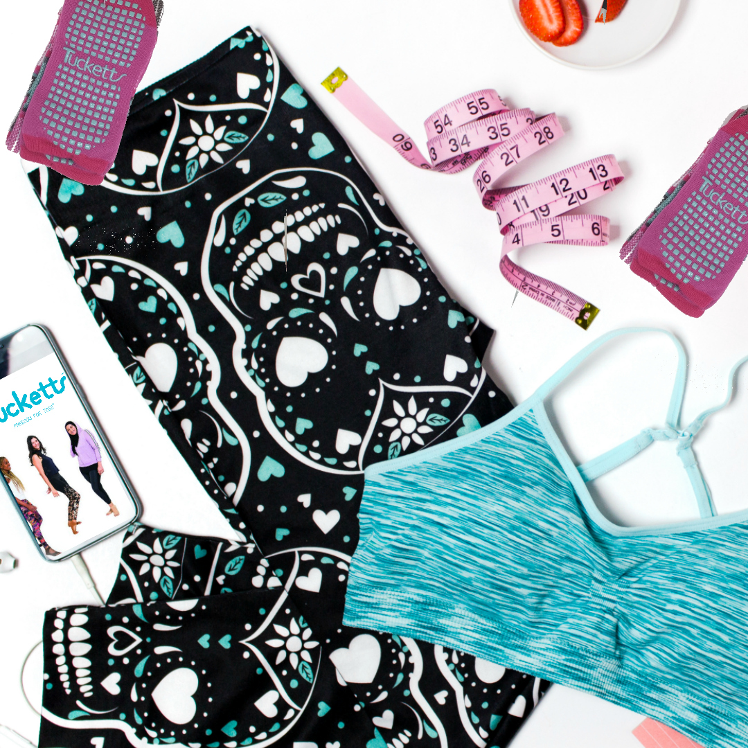 Everything You Need In Your Pilates Gym Bag With Tucketts Socks by Beauty After Forty