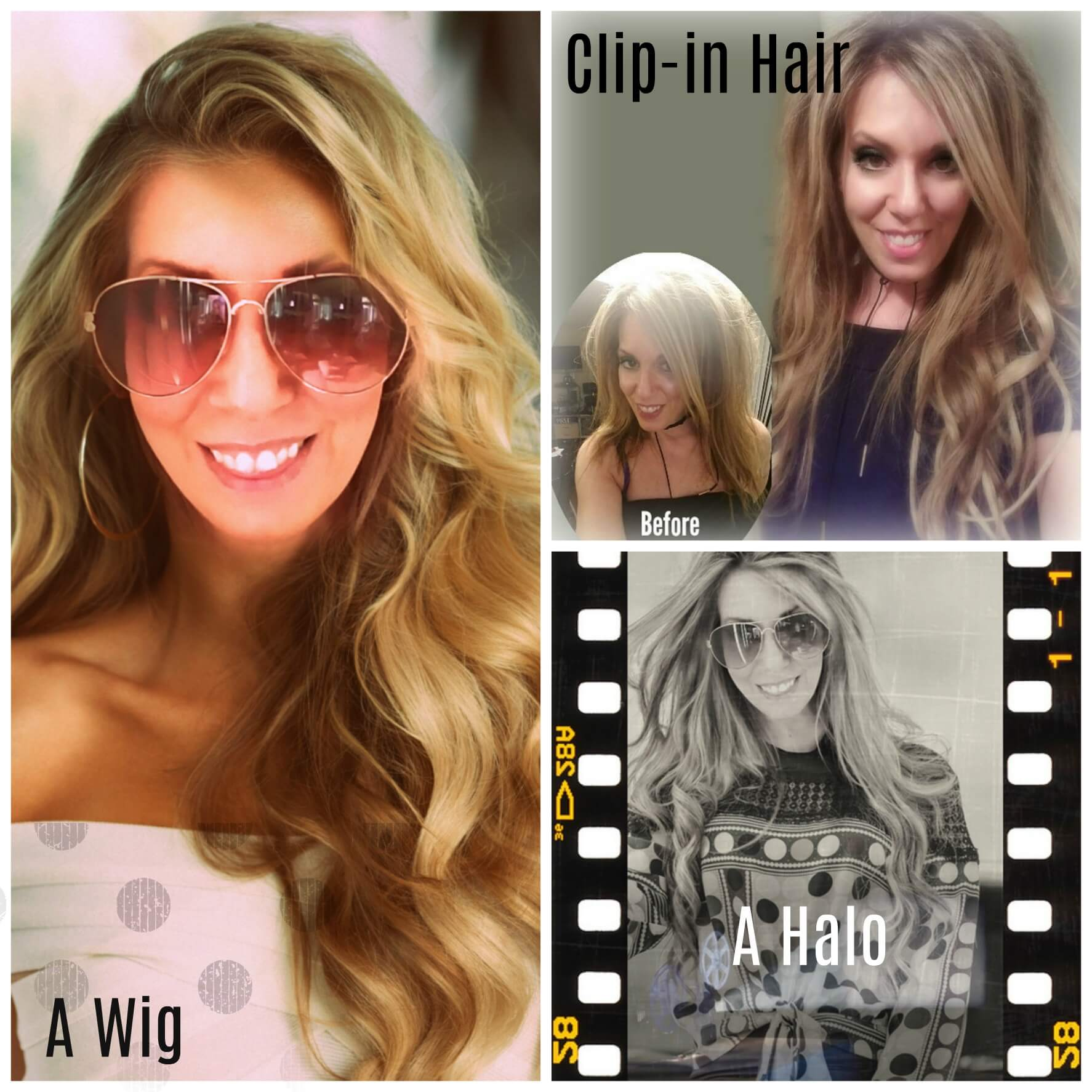 Before and afters of hair extensions by beauty after forty